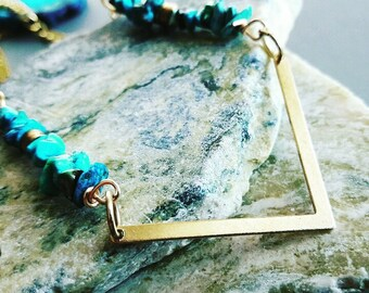 20% off any order Blue Turquoise Necklace