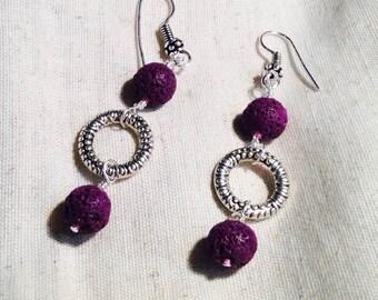 Purple Lava Earrings