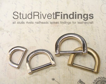 10pcs ZINC D-ring FOB Purse Hardware Finding for Purse Ring, Clasps Hook Ring dr01mix/ High Quality