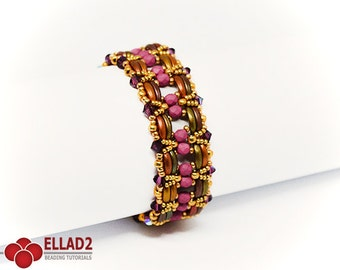 Tutorial Rama Bracelet-Beading Tutorial, Instant download, Ellad2