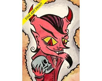 Made The Devil Do It - Fine Art Print (FREE DOMESTIC SHIPPING!)