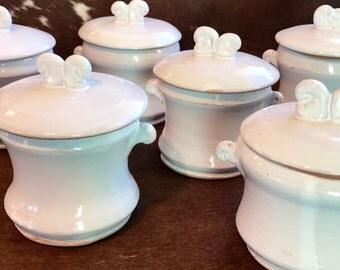 White Pottery Jar with Lid, Handmade Sugar Jar, Small Earthenware Lidded Jar, White Ceramic Kitchen Storage Jar, Wheel Thrown Herb Jar.