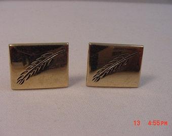 Vintage Cuff Links Wheat Or Pine Tree Design 17 - 318