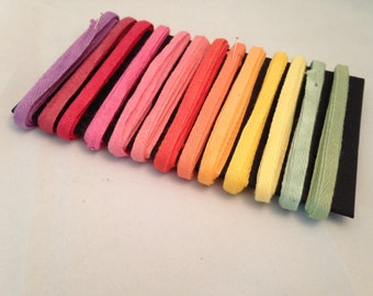 Hand Dyed 39 Yards 13 Colors 1/4 inch Cotton Twill Tape edging for making spun cotton
