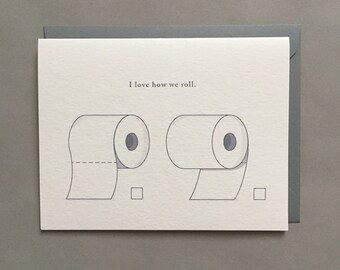 Toilet Paper Roll / Funny Card / Love Card / Funny Card Images / Funny Cards for Men / Blank Greeting Card