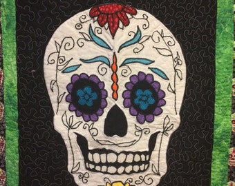 Sugar Skull Quilt = Summer Wedding