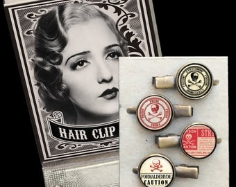 Poison Matchbox Hair Clip set