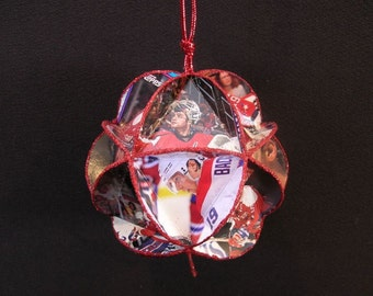 Hockey Card Ornament - Washington Capitals Ice Hockey Decoration