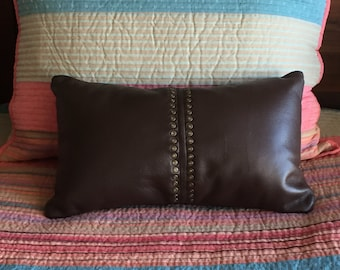 Charger Pillow Bed Decorative Pillow Leather Pillow