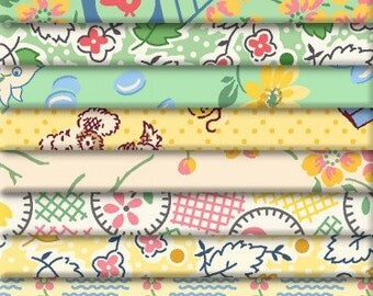 """Jelly Roll Precut Cotton Quilt Fabric Strips, 24 Strips x 2-1/2""""x 44/45"""") Lazy Days Reproduction Fabrics"""