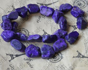 Faceted Charm purple turquoise nugget stone beads,Turquoise Nugget Free Turquoise Gemstone Beads loose strands