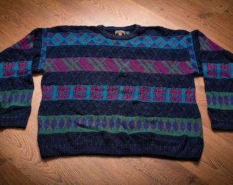 Ralph Lauren Chaps Sweater, Hip Hop Fashion Shirt, Vintage 90s, Made in USA