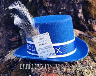 Dr. Who Tardis inspired Miniature Top Hat Fascinator
