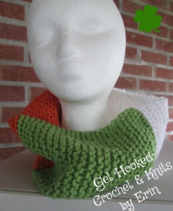 Irish Flag Cowl / Neck warmer .