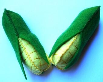 Felt Corn - Play Toy Food - Pretend play