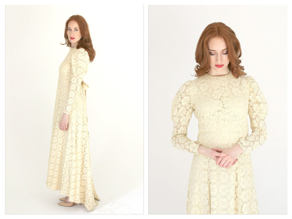 Bohemian Lace Wedding Dress Long Sleeve Crochet Mermaid