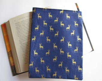 Golden deer paperback book bag, book cover, book protector, book sleeve