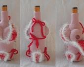 Crochet Pattern Wine bottle cozies and beer can and bottle cozies - Haakpatronen Wijnfles jasjes en bierfles en blikjasje
