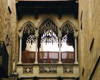 Spain-Barcelona-Gothic Quarter Archway- Fine Art Photography