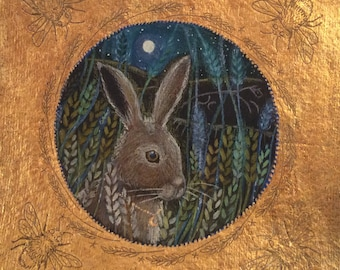 Harvest Hare greetings card