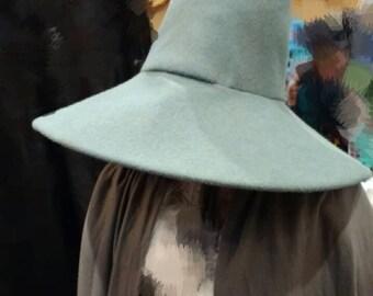 Wizard Hat- Gandalf the Grey, LOTR, The Hobbit, Cosplay, Movie Replica 100% Wool felt