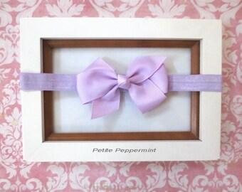 Lavender Baby headband, baby girl headband, newborn headband, toddler headband, Lavender Baby Bow Headband, Lavender Baby Hair Bow