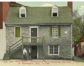 Vintage 1910's Postcard, George Washington's Headquarters 1791), Washington, D.C.