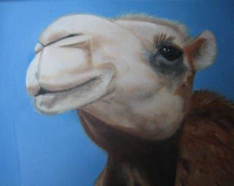 Camel Painting, Camel Original Art, Camel Portrait, Whimsical Camel Painting Camel Lover Wall Decor, Camel Art, Kid's Decor, Karen Snider