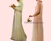 knit Wedding Coat knitting Pattern PDF 493 Vintage from WonkyZebra