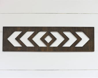 Chevron Arrow Cut Out wood Home Decor Boho Abstract Wall art
