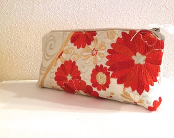 Obi / Kimono / Bag / GR1014 Chrysanthemum Embroidery Obi Pouch