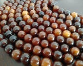 10 Strand Lot!12MM Smooth Round Caribou Horn Beads