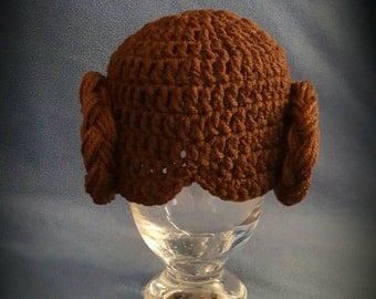 Princess Leia Hat, Crochet Star wars Princess Leia Hat, Princess Leia costume, Princess Leia photo prop