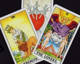 Three-Card Tarot or Oracle Card Reading