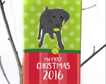 My First Christmas Ornament - Puppy or Dogs First Christmas - Dog Ornaments - Labrador Retriever
