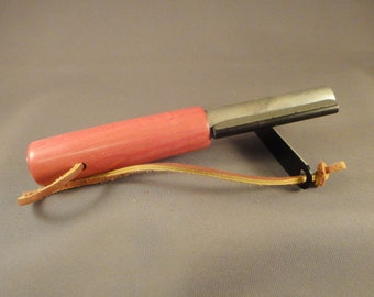 Survival Fire Starter - Flint and Magnesium - Pink Ivory Wood