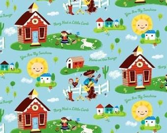 Windham Multi Nursery Rhymes Daytime Fabric - 1 yard