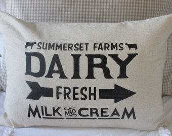 Dairy Pillow Cover