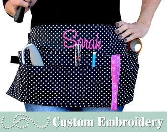 Tool Belt • Women's Tool Belt • CUSTOM EMBROIDERED • Durable, Functional & Classy • QUALITY • Choose Your Fabric