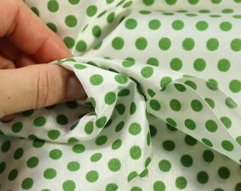 3.25 yards  fun nylon synthetic dot fabric green circus print   fabric semi sheer lace