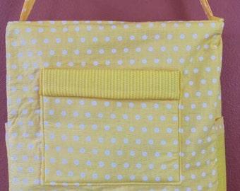 Breezy #06  Yellow Polka Dot Knitting Bag, Zippered Project Tote, Zippered Knitting Project Tote, Knitting Bag, Bags and Purses, Totes, Bags