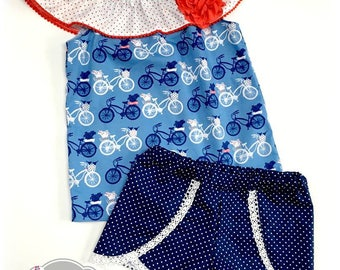 Ready to Ship Size 5 Summer Adventures Short Set