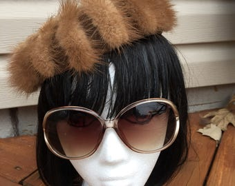 Unique vintage fur hat