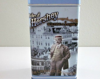 Milton S. Hershey 1996 Tin, Building a Legacy - Series #2 - Hershey Candy Tin - Candy Storage - Collectible - Hershey Food Corporation, USA