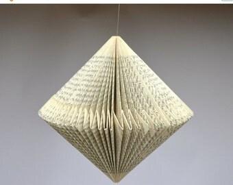 Christmas SALE Spinner: folded Book Art Hanging Ornament