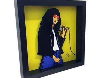 Joey Ramone Poster 3D Art The Ramones Concert Poster Print Punk Rock Art New York City Queens NY 3D Pop Art