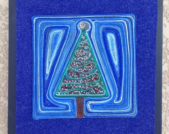 Christmas Tree thread painting