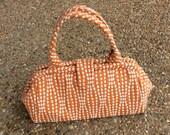 Orange Sherbet Dotted Doctor Bag