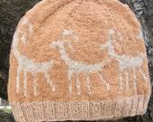 Wool Hat: Canyonlands Petroglyph Anasazi Deer