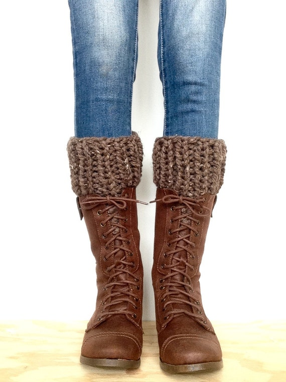 Knit Boot Cuffs PATTERN Chunky Knit Boot Warmers Pattern Knitted Ribbed Leg W...